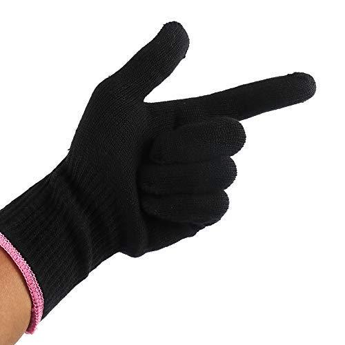 guanti per piastra capelli TTAototech Calore Professionale Resistente del Guanto dei Capelli Strumento di Styling per Il Curling Dritto Piatto Guanto di Calore del Ferro Nero per Il Ferro arricciacapelli