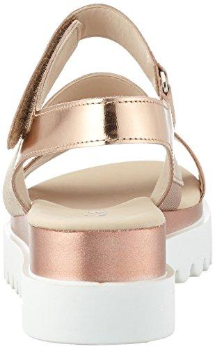 rame Fashion Damen Sandalen mit lachs Gabor Keilabsatz Offene 64 Orange 5w8dtqtx