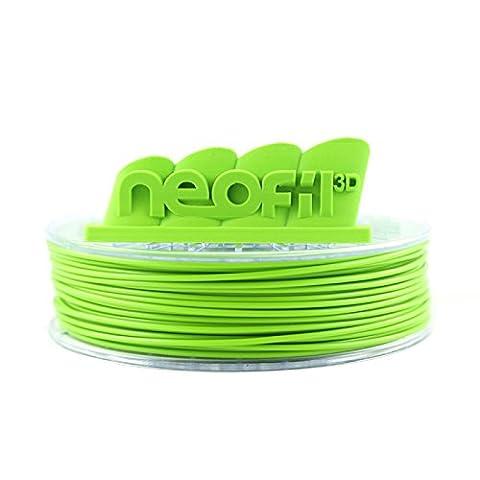 Neofil3D MABS175GR10750G M-ABS Filament pour Imprimante 3D, 1,75 mm, Vert Pomme