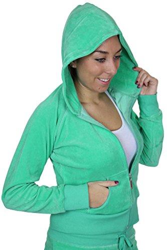 ICE (6327) Complet à Capuche pour Femmes Verde