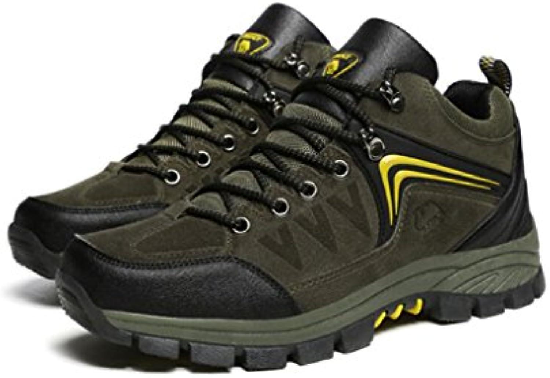 YaXuan Herren Wanderschuhe  High Top Trekking Schuhe  Rutschfeste Outdoor Warm Walking Klettern Sneakers  Off Road Tourismus