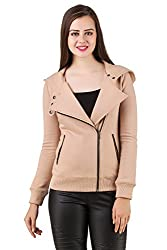 Texco hooded full sleeve beige winter jacket