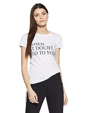 Amazon Brand- Symbol Women's Graphic Print Round Neck Cotton T-shirt (WTGR06_White_XL)