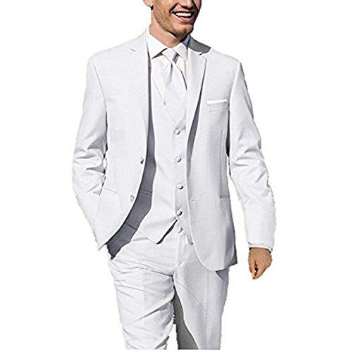 ee9804d0d YYI Men's 3 Pieces Wedding Suits for Men Business Men Suits Groom Formal  Tuxedos White