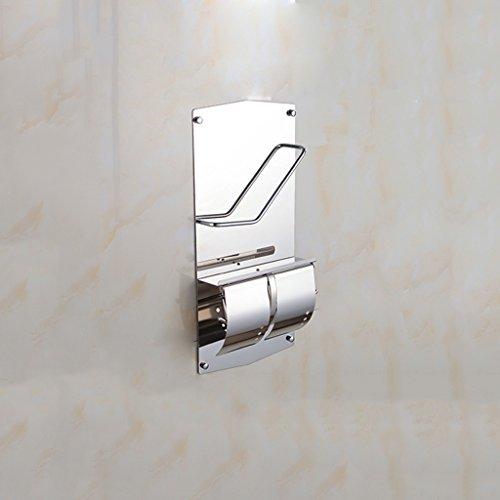 Fu Man Li Trading Company Edelstahl Bücher und Zeitungen Flugzeuge mit WC Rollenhalter Magazin Racks Toilettenpapier Flugzeuge Multifunktionale A+ -