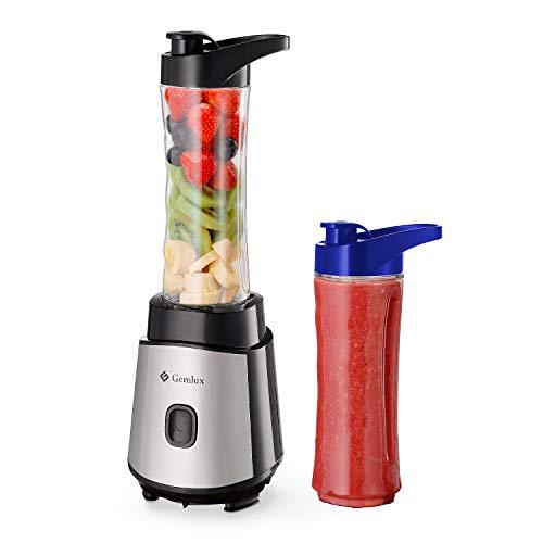 Gemlux Smoothie Maker, 500W Mixer, Personal Blender, Mini Standmixer für Smoothie, Protein Shake, Getränk von Obst…