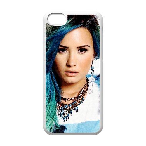 Demi Lovato coque iPhone 5C Housse Blanc téléphone portable couverture de cas coque EBDXJKNBO10610