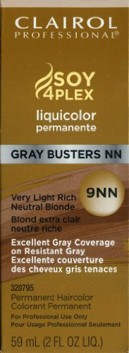 Clairol Colorant permanent Liquicolor Gray Busters - Excellente couverture des cheveux gris tenaces - Couleur 9NN - Blond très clair neutre riche - 59 ml