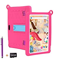 LNBEI Kids Tablet 10.1 inch Display, Kids Mode Pre-Installed, with WiFi, Bluetooth and Games, 16GB SD Card , Stylus Pen , Quad Core Processor, 1280x800 IPS HD Display (Pink)