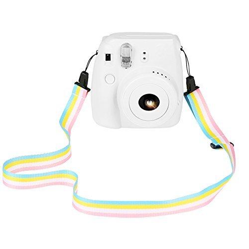 SAIKA Kamera Schultergurt für Fujifilm Instax Mini 9/8 / 8+ / 7s / 25/26 / 50s / 70/90 Sofortige Kamera, Regenbogen Bunte verstellbare Gürtel Neck Strap für Polaroid Kamera und Digitalkamera - Straps-mini