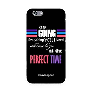 HomeSoGood Keep Going And Work Hard Black 3D Mobile Case For iPhone 6 (Back Cover)