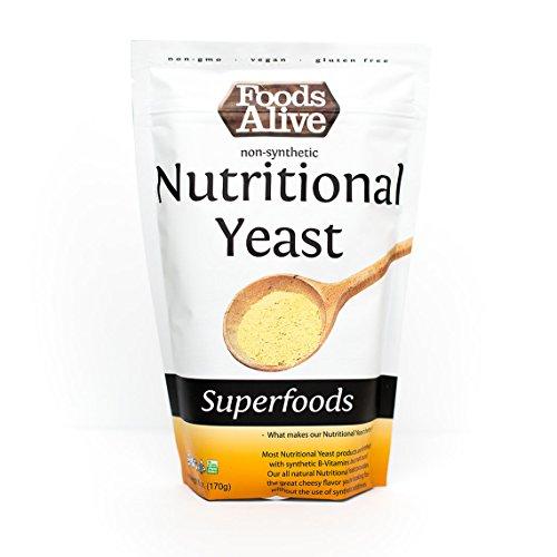 Foods Alive - Levadura Nutricional No Sintética - 6 oz.