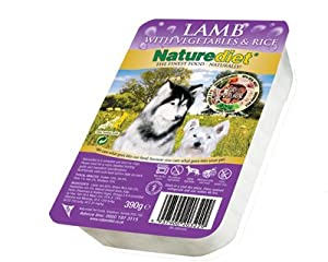 Case Of 18 Naturediet Lamb 390g Dog Food
