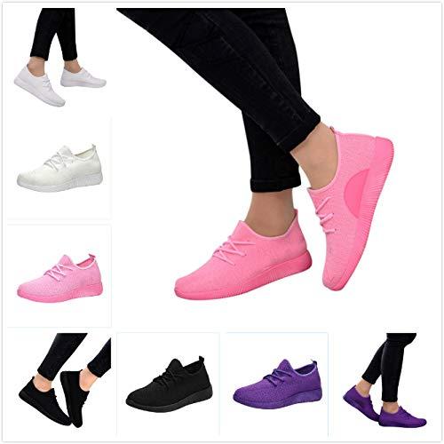 Scarpe Donna Sneakers da Donna Color Caramella Scarpe Sportive in Morbido Mesh Respirabile Casual Comode Slip On Moda Scape da Ginnastica Scarpe da Guida Adatto a Tutte Le Stagioni