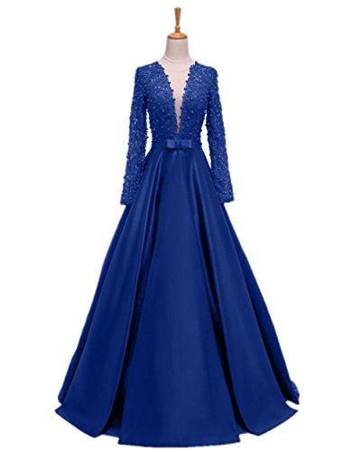 Promworld Damen A-Linie Kleid Gr. 54, königsblau