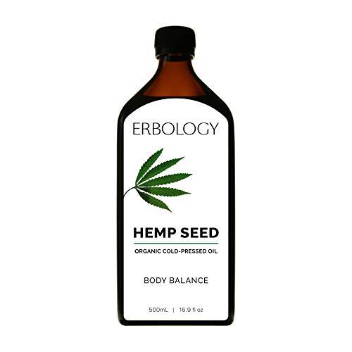 Olio di Semi di Canapa Bio 500ml - Spremuto a Freddo - Omega 6 - Omega 3 - Vitamina E -...