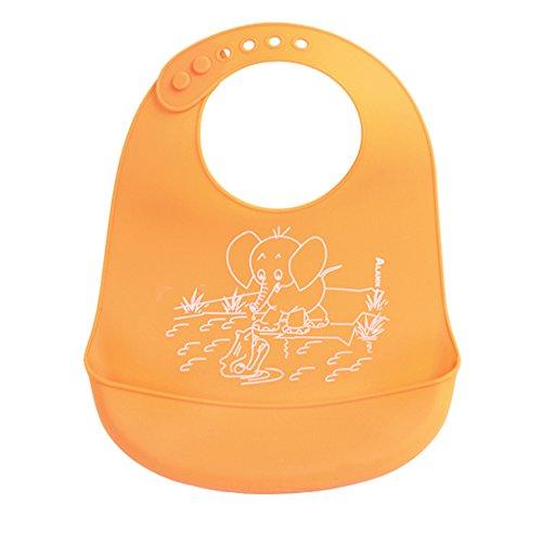 Casa Bonita impermeabile in silicone alimentare Bavaglino con grandi Catch tasca Salviette pulisce facilmente. Bavaglino morbido, anti macchia Spendere meno tempo pulizia dopo i pasti per bambini o.