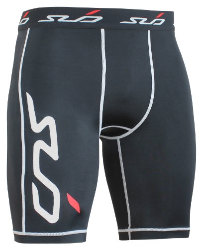 Sub Sports Kinder Dual Kompressionsshorts Funktionswäsche Base Layer  hose kurz, Schwarz, 152/164