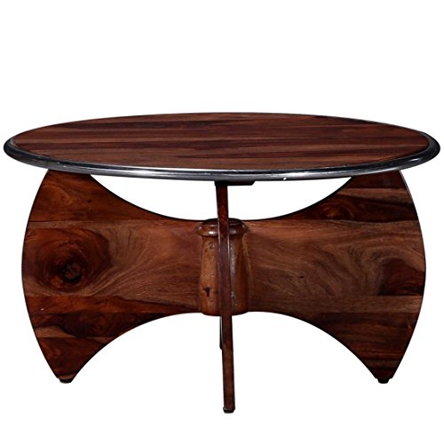 SMARVVV PRODUCTIONS Smart & Stylish Teak & Rosewood Square Shaped in Brown Colored Coffee Table in Standard size & weight (BROWN)