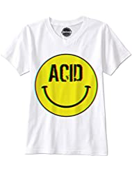 PHUNKZ T-SHIRT ACID LSD SMILEY TRIPPY ALBERT HOFFMAN MDMA WASTED YOUTH WOODSTOCK