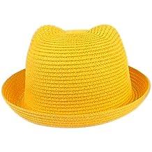 Leisial Sombrero de Paja Playa Sombrero de Sol de Ocio al Deporte Aire  Libre Verano para 7e25fdc8f85