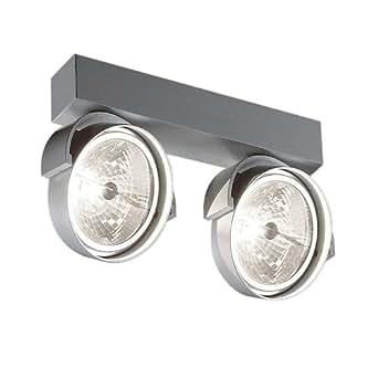 Delta Light Design / Moderne / Delta Light Rand 2 ampoules11 T50 aluminium Rond Compatible pour LED G53 Max. 2 x 50 / Lampe de lecture