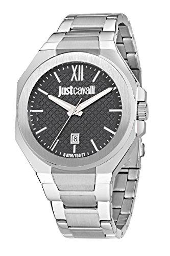 Just Cavalli Fuerte-Reloj para Hombre analógico Cuarzo Acero Inoxidable R7253573004