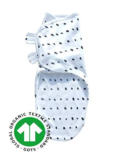Sleeping Rebels® Pucksack Baby Premium Bio-Baumwolle GOTS-Zertifiziert Pucktuch Swaddle Sommer-Schlafsack Wickel-Decke zum Pucken und Wickeln von Babys für Mädchen und Junge-n Schwarz-Weiß 4-6 Monate