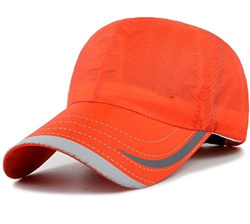 Chapeau Mode Sports De Plein Air Casquette De Baseball Mâle Séchage Rapide Printemps Et En été Perméable à L'air Mme Chapeau De Soleil Orange