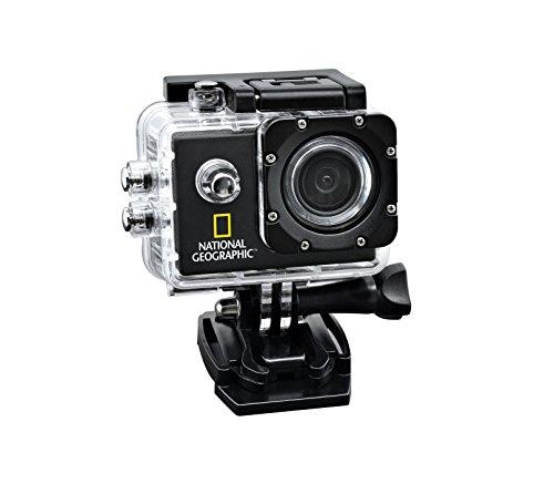 "National Geographic - Action Camera Full HD, 140°, impermeabile fino a 30 m, con display da 1,5\"""