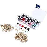 Unterlegscheibe im Box f/ür DIY Puppe Herstellung Handwerk Glitter Vliesstoffe Homyl 70 St/ück 10mm Runde Kunststoffaugen