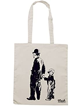 Borsa CHARLIE CHAPLIN IL MONELLO STANCIL - Sand - FILM by Mush Dress Your Style