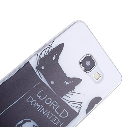 Galaxy A5 2016 Soft Silicone Tpu Coque Mode,Transparent Coque pour Samsung Galaxy A5 (2016),Ekakashop Ultra Mince Jolie Sombre Chat Design Souple imprimée Etui Housse de protection Cristal Clair Gel C Sombre Chat