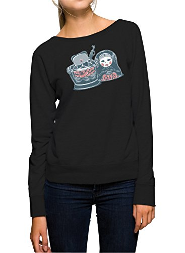 Certified Freak Killer Matroschka Sweater Girls Black M