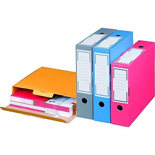 20 Stück Archiv-Ablagebox farbig Breit 100 mm Blau
