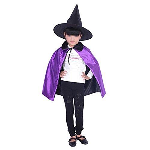 Kostüm Halloween Erwachsener Kinder Unisex Halloween Umhang Cape mit Kapuze (Diy Weiser Kostüm Mann)