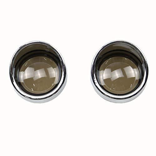 BHYShop Blinker Licht Objektivdeckel für Harley Dyna FXDL Super Glide Fatboy Glühlampe (Rauch) (Davidson Harley Schatten Licht)