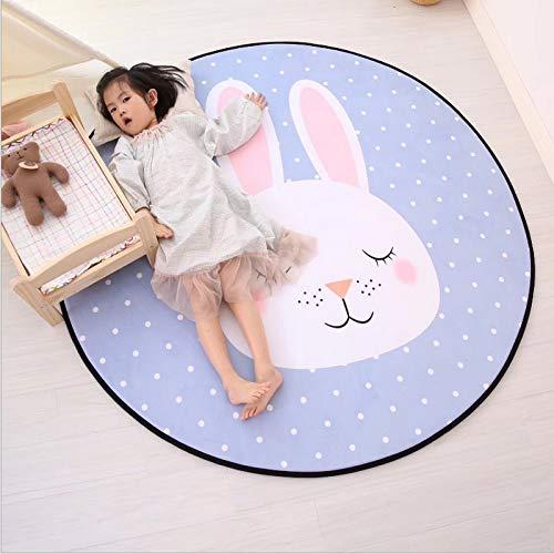 JIELUG 40 cm / 80 cm / 120 cm / 150 cm Runde Kinder Spielmatte, Baby Fitness Matte Kinder Teppich Spiel Matte Kinderzimmer Dekorative Teppich, 120 cm