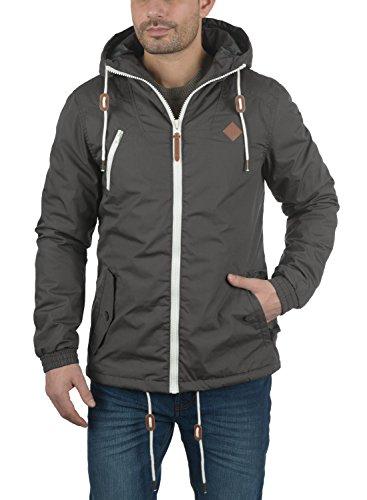 SOLID Tilden Herren Übergangsjacke Jacke mit Kapuze aus hochwertigem Material Dark Grey (2890)