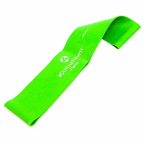 #DoYourFitness® Fitnessbänder in 4-Stärken | Einzeln oder direkt im 4er-Set| Gymnastikbänder mit 50cm Umfang - geschlossene Sportbänder (eng. Mini-Loops) für Reha, Fitness & Gymnastik - Paris/Grün