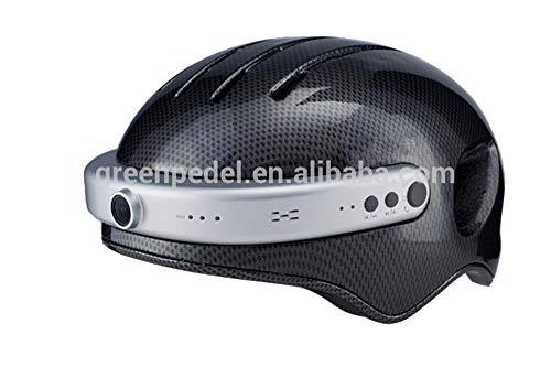 EP-Helmet Mountainbike-Helm, Smarte 2K-Fotografie Video/Bluetooth-Musik/Telefon/App-Verbund, Smart-Riding-Helm,Black,XL