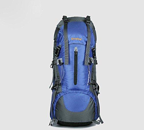 AllureFeng Outdoor-Bergsteigen Tasche Männer und Frauen Sport Outdoor-Rucksack Tasche große Kapazität wasserdichter Rucksack Blue