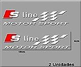 PEGATINAS AUDI S LINE MOTOR SPORT R178 VINILO ADESIVI DECAL AUFKLEBER STICKERS CAR VOITURE SPORT RACING BLANCO/WHITE