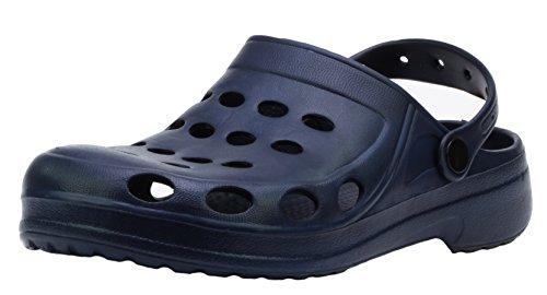 Flame A001 Herren Bequem-Schuhe Clogs Pantoffel f眉r Haus Garten Strand Sommer (EU 41-46) Blau