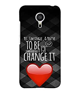 PrintVisa Designer Back Case Cover for Meizu M2 Note :: Meizu Note 2 (Single Unmarried Bachelor Wordings Quotations)