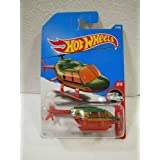 Hot Wheels 1:64 2017 Propper Chopper Helicopter, Multi Color
