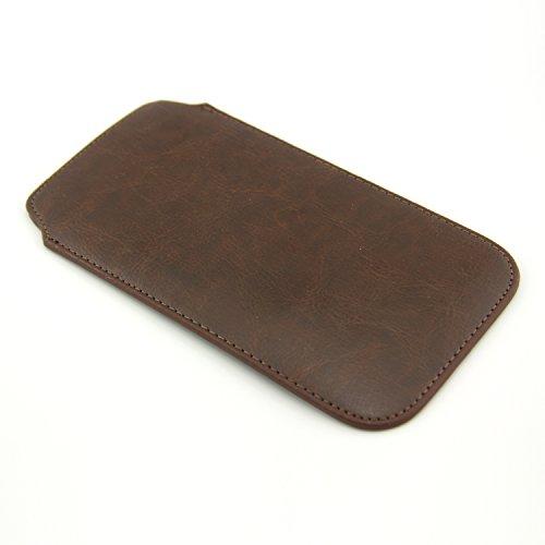 THEVERY® - Custodia Smart case iPhone 6 plus Premium Lusso Fodero Cellulare Cover Guaina - cuoio PU nero Borsa - cuoio marrone