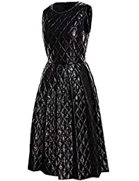 MONCLER Femme 6800400788B0999 Noir Polyamide Robe b19ab481915
