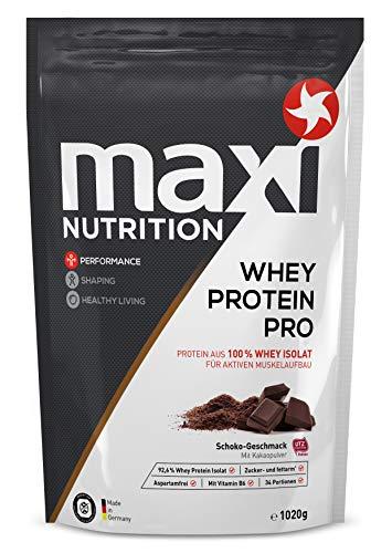 MaxiNutrition Whey Protein Pro Schokolade - Eiweißpulver für den Muskelaufbau nach dem Training - 1 x 1020 g Packung Protein Shake mit Schokoladen Geschmack - Whey Protein Booster Schokolade
