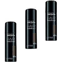 Professionnel - Spray de tinte para el cabello L'Oréal Hair Touch Up, castaño claro, set 3x 75ml